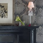 Farrow and Ball Wallpaper in Connecticut Showhouse Dining Room